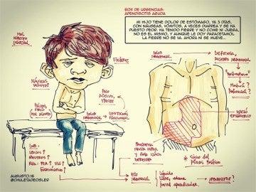 Dibujo de Augusto Saldaña