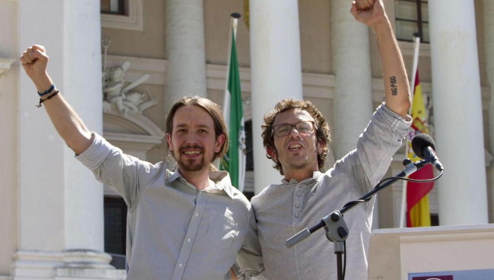 Pablo Iglesias con el alcalde de Cádiz, el anticapitalista José María Gónzalez 'Kichi'