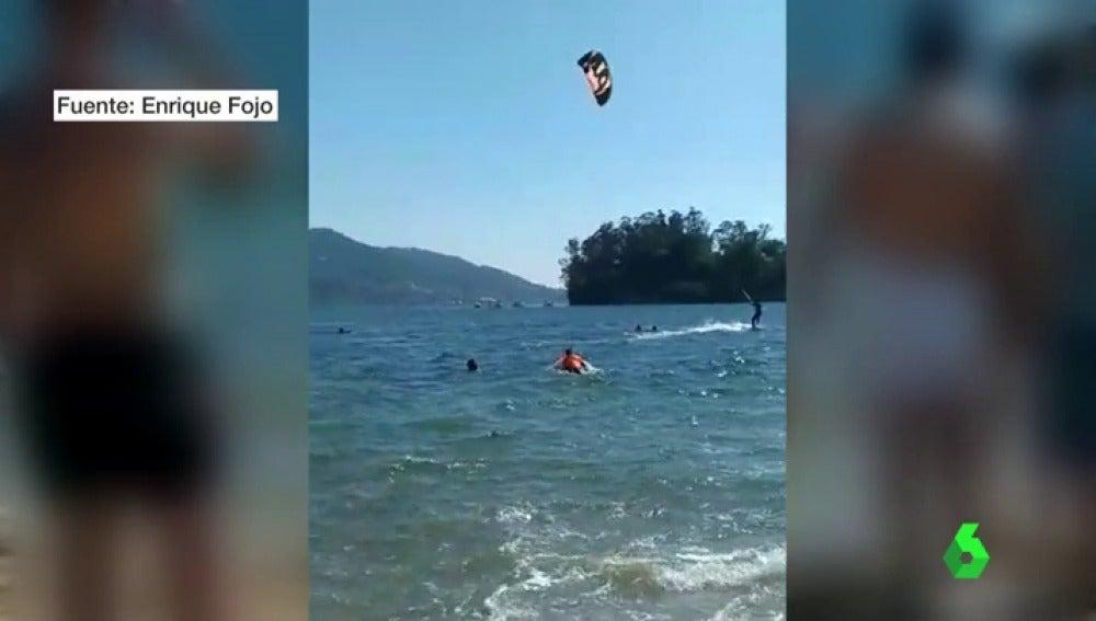Kitesurfistas