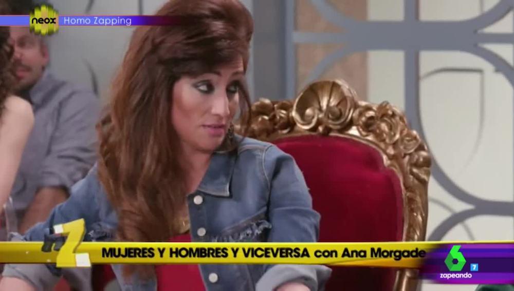 Ana Morgade se mete en la piel de una tronista en 'Homo Zapping'
