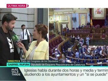 Gabriel Rufián habla con Cristina Pardo