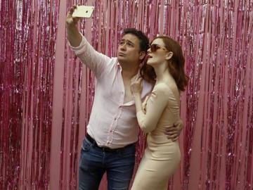 Secun de la Rosa y Ana María Polovorosa posan durante la presentación en Madrid de 'Pieles'