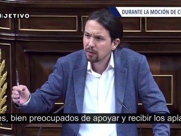 """Frame 9.394874 de: Pablo Iglesias repite insistentemente que """"el PP es el partido más corrupto de Europa"""""""