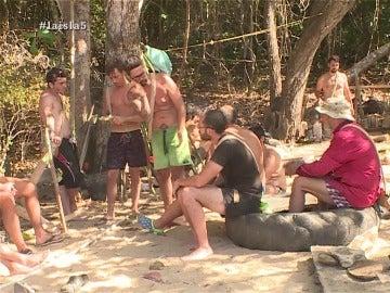 Daniel, Cuco y David en La Isla