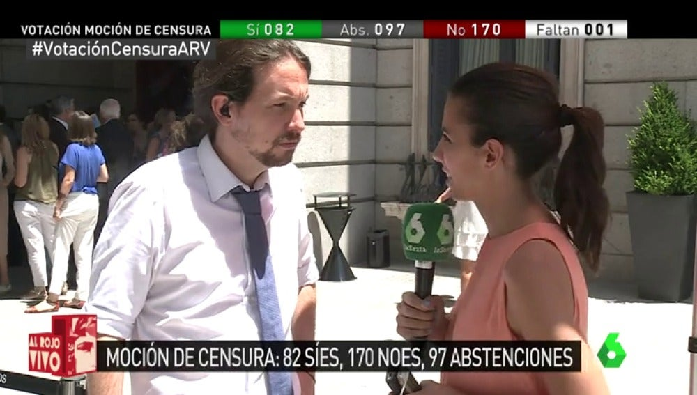 Pablo Iglesias con Ana Pastor