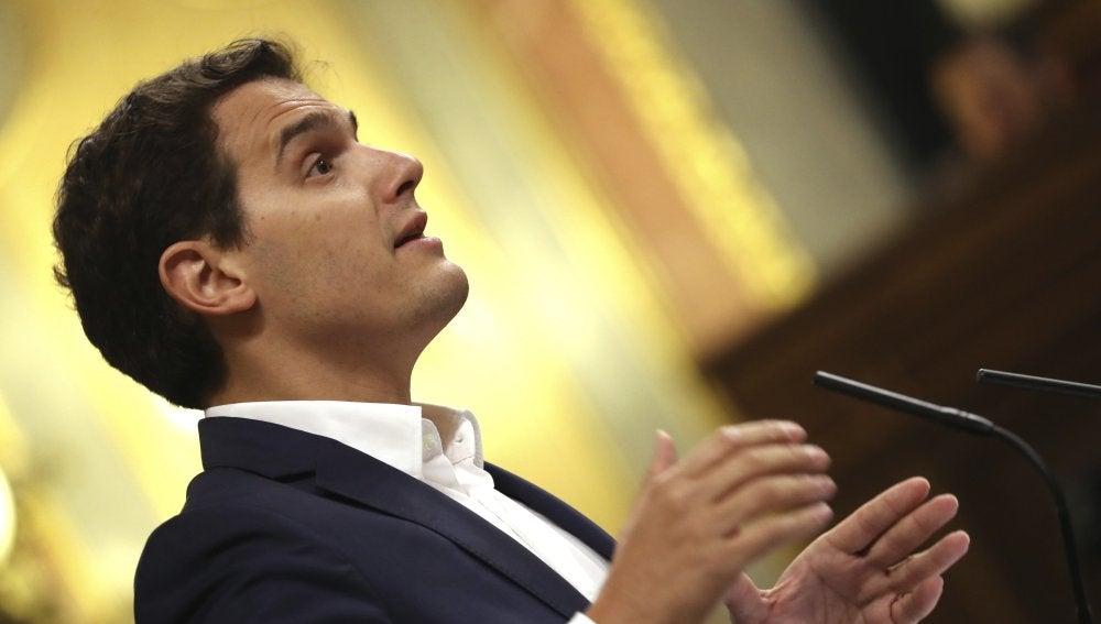 Albert Rivera durante su intervención