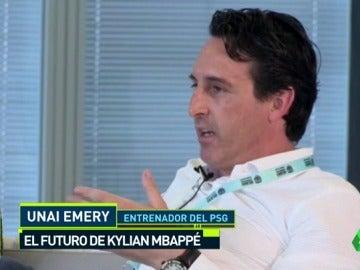"""Unai Emery intenta seducir a Mbappé para el PSG: """"Qué mejor que jugar en París, con su familia..."""""""