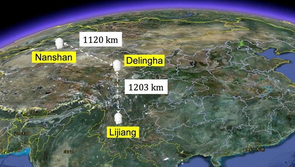 Dos particulas separadas 1200 km se entrelazan de forma cuantica