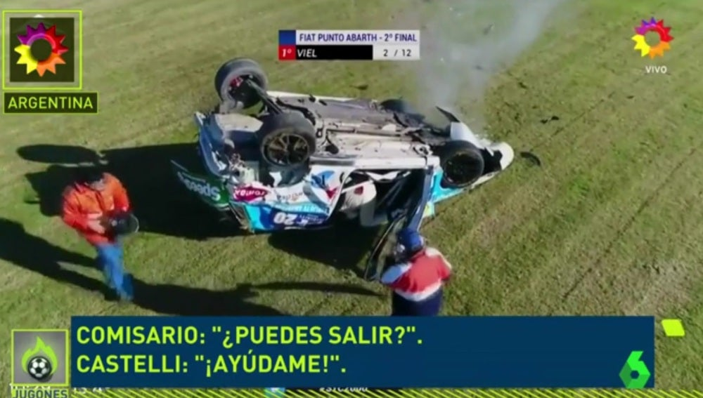 Imagen del accidente de Luis Castelli