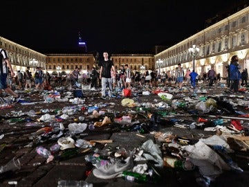 La imagen de la plaza de Turín tras la estampida