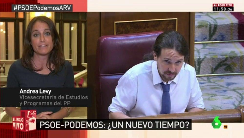 """Andrea Levy justifica el comentario machista de Hernando: """"Habló de una relación política"""""""