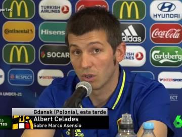 Albert Celades, técnico de la selección española sub-21