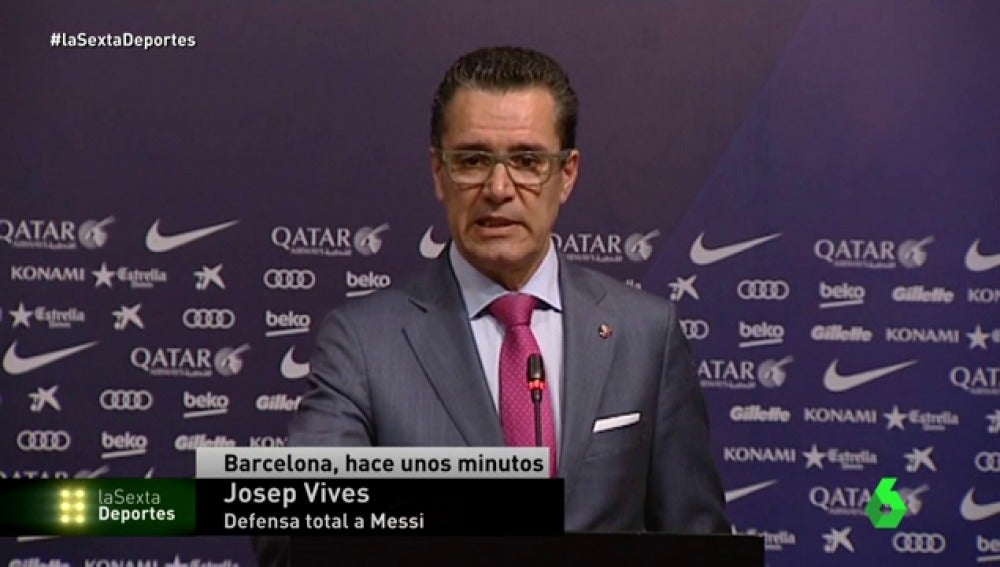 Josep Vives, portavoz de la Junta Directiva del Barcelona