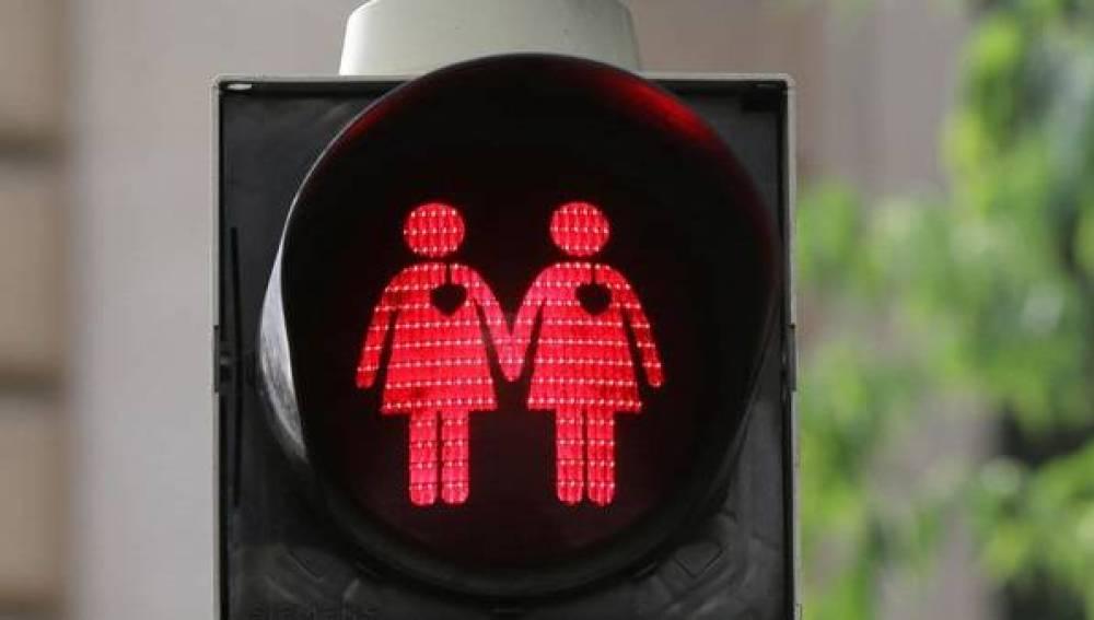 Semáforos 'gay friendly' en Madrid