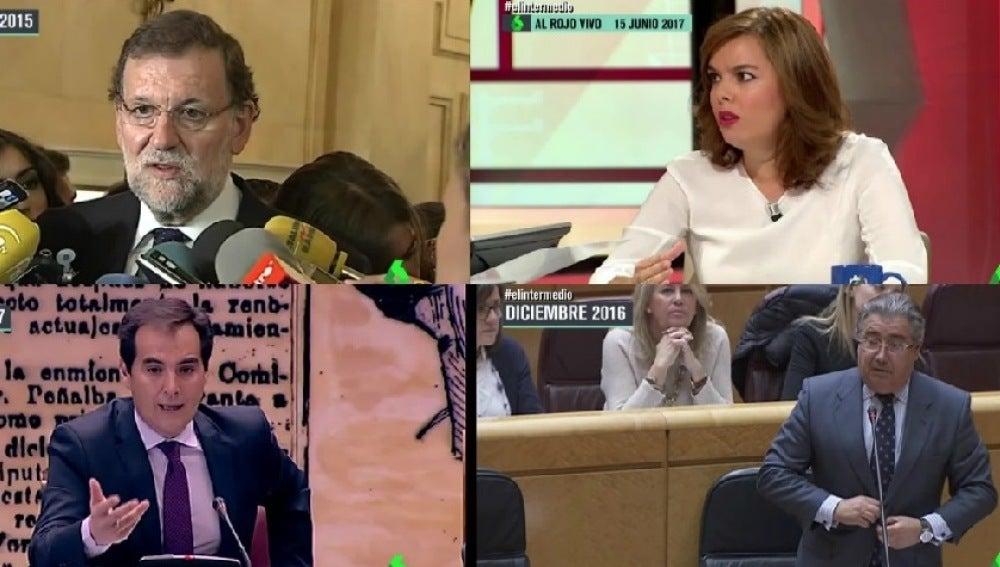 Mariano Rajoy, Soraya Sáenz de Santamaría, José Antonio Nieto y Juan Antonio Zoido