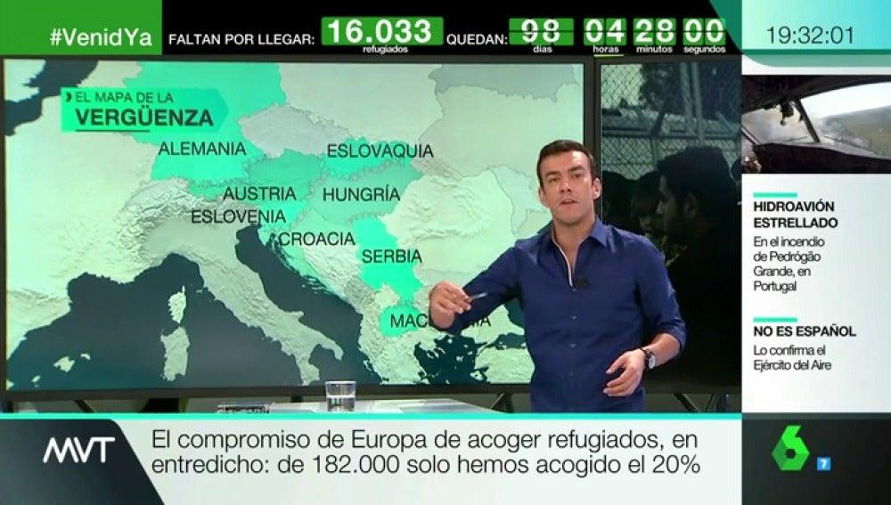 El mapa de la vergüenza de los refugiados