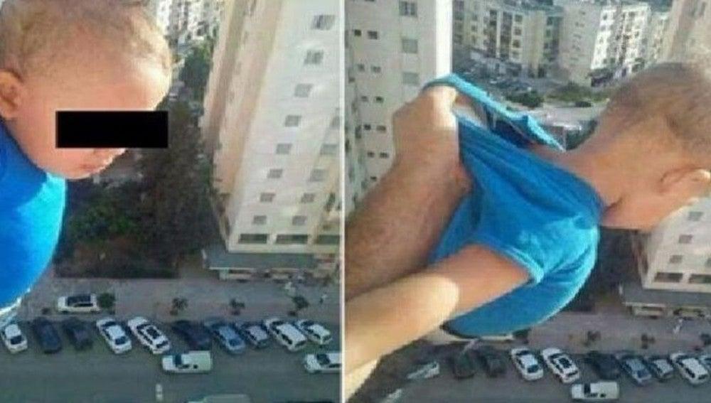 Un argelino cuelga a un niño para ser popular en Facebook