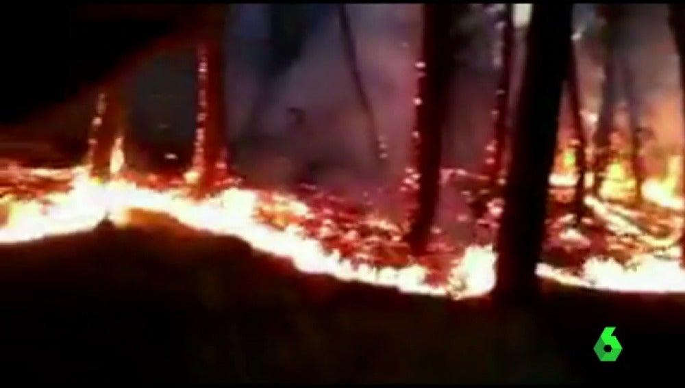 Incendio en Villanueva de la Sierra, en Cáceres