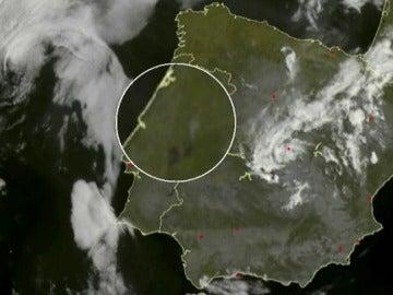 Incendio en Portugal a vista de satélite