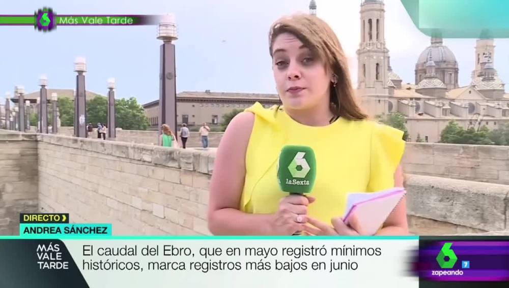Andrea Sánchez, reportera de Más Vale Tarde