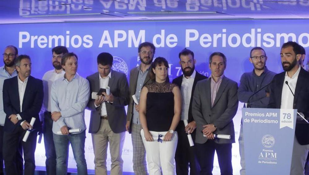 El grupo de periodistas que participó en la investigación de los papeles de Panamá