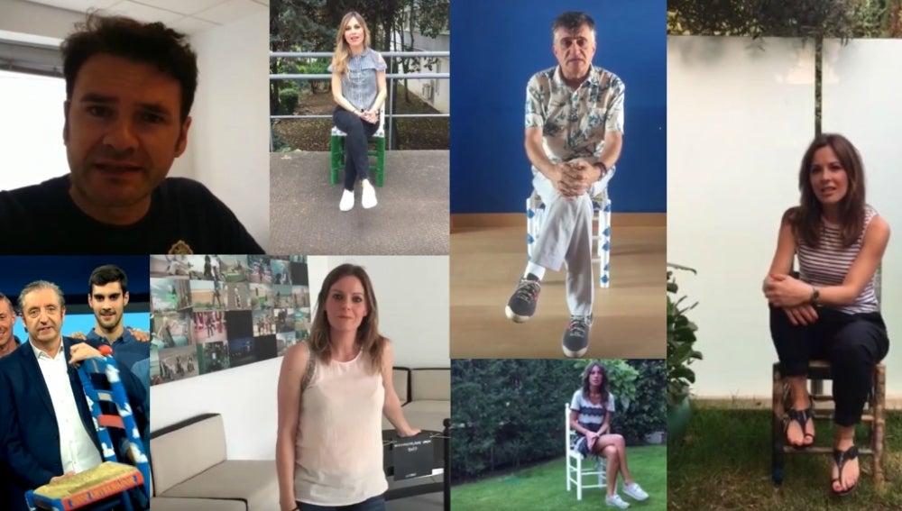 Las caras de laSexta ceden sus sillas para en favor de los refugiados