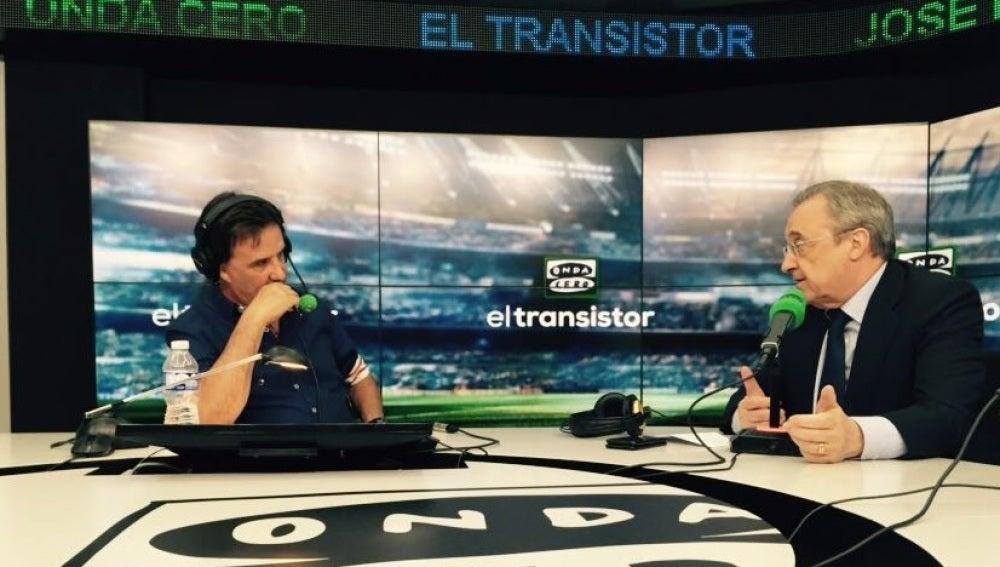 Florentino Pérez, en El Transistor de Onda Cero