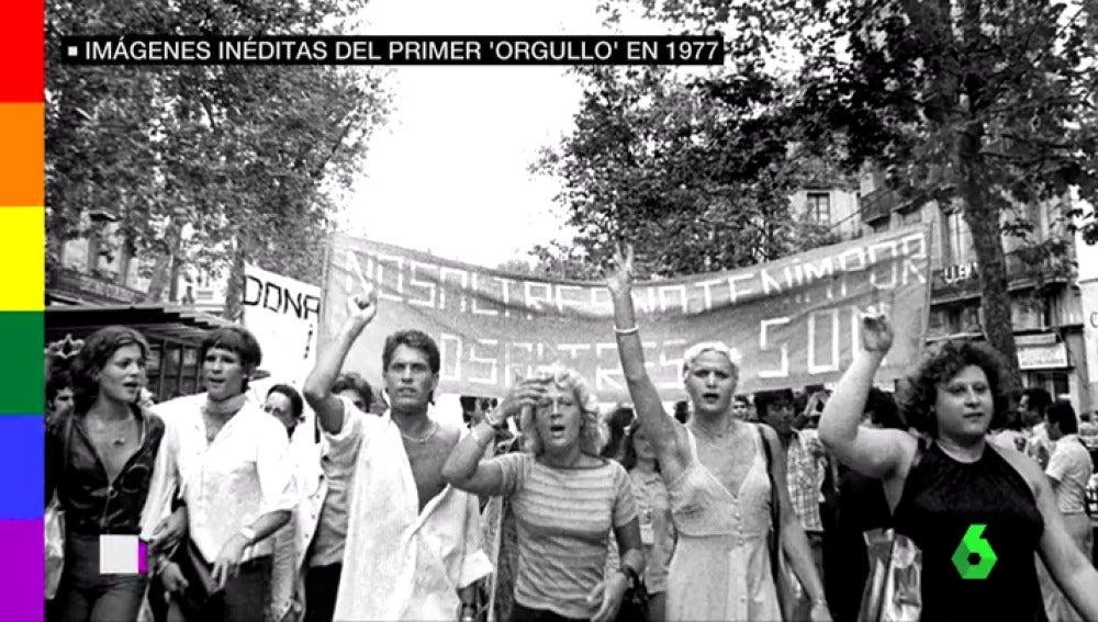 Primera manifestación del Orgullo LGTBI en España, en 1977