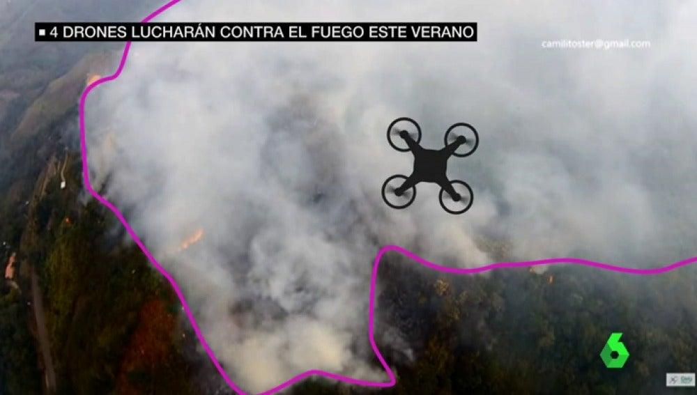 drones incendio