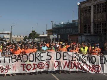 Protesta de estibadores