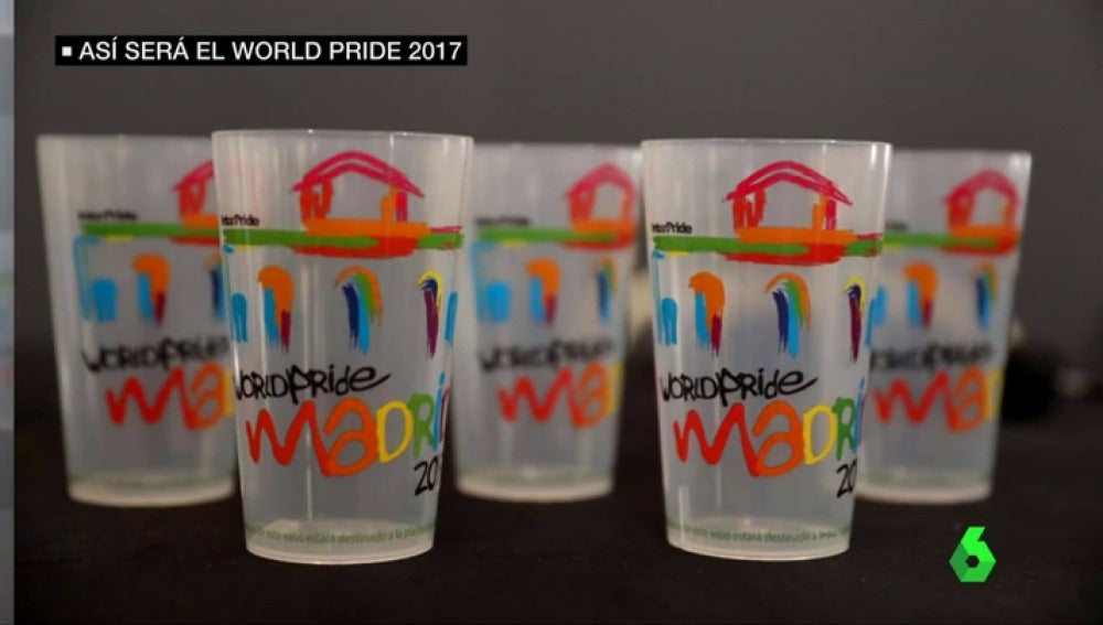 Vasos retornables del World Pride