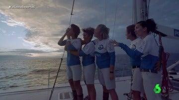 Las cinco mujeres que se unieron para cruzar el Atlántico