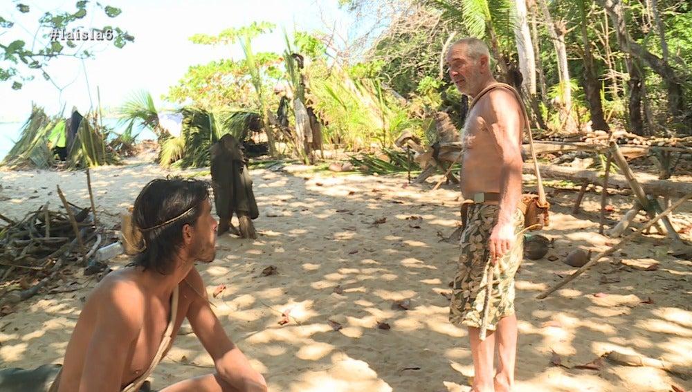 Fernando y Rafael en La Isla