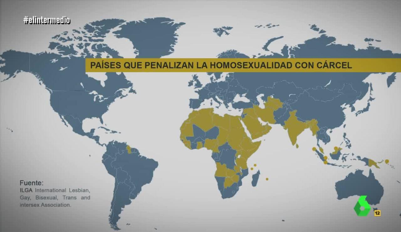 Países que penalizan la homosexualidad con cárcel