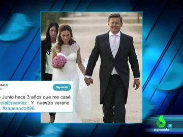 El romántico detalle de Miki Nadal con Carola Escámez en su tercer aniversario de boda