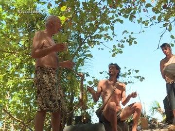Rafael y Fernando discuten en La Isla