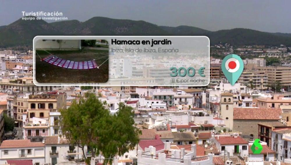 Sofás por 330 euros al mes, hamacas de jardín por 300 euros, furgonetas por 1.800 euros... el negocio del alquiler en Ibiza