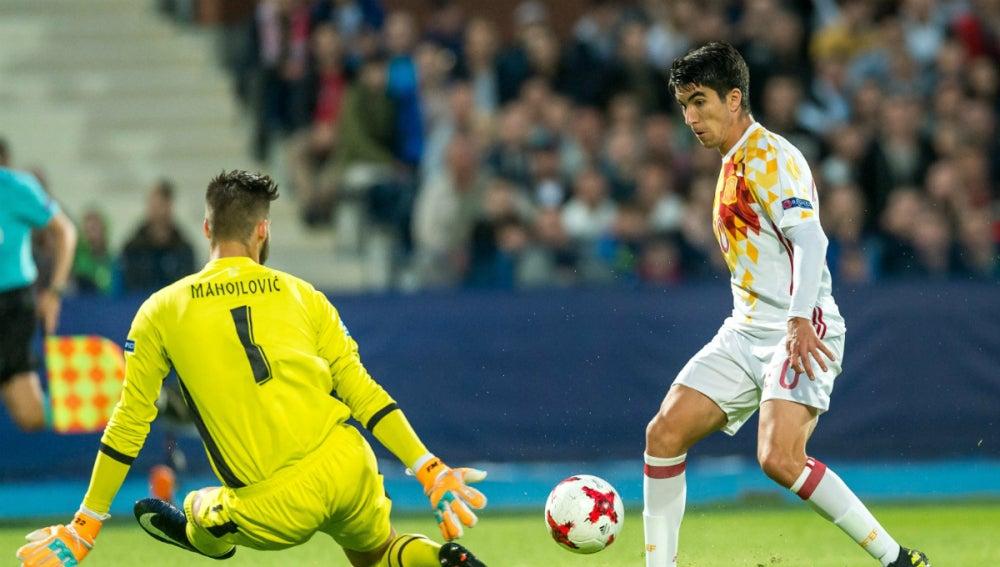 Carlos Soler, con España sub 21