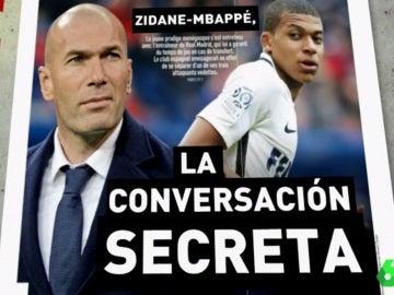 La conversación Zidane-Mbappé desvelada por L'Equipe