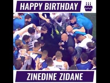 La felicitación del Madrid a Zidane