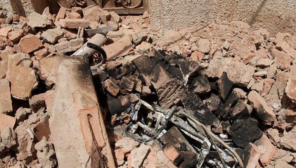 Los efectos de la explosión del hombre que quería atentar contra La Meca