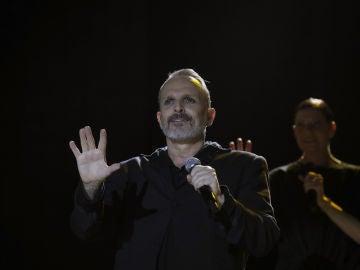 El cantante Miguel Bosé en su concierto en el WiZink Center de Madrid
