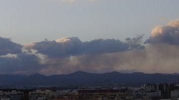 Incendio forestal en el término de Gátova, en el paraje natural de la Sierra Calderona