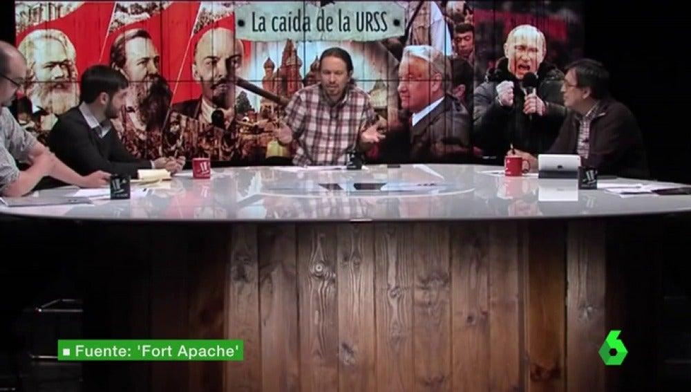Pablo Iglesias, en el programa Fort Apache