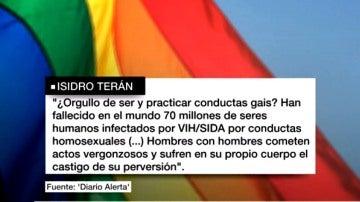 Polémica carta homófoba