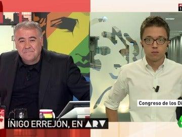 Íñigo Errejón, durante su entrevista en ARV