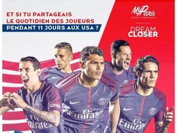 El cartel promocional de la gira de verano del PSG