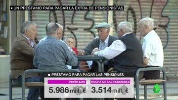 Un grupo de jubilados jugando