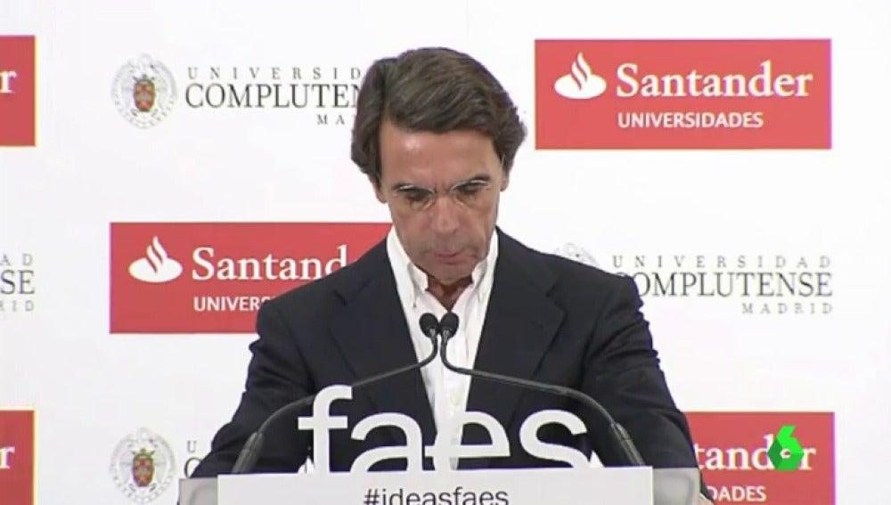 Aznar en su discurso de clausura del curso de verano de la fundación FAES