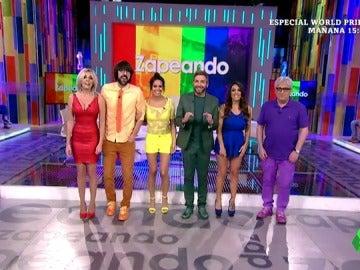 El arcoíris humano de Zapeando